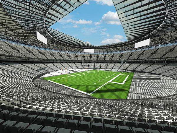 Stockfoto: Amerikaanse · voetbal · stadion · witte · honderd · duizend