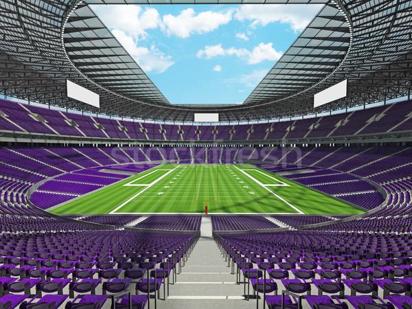 Amerikaanse voetbal stadion paars honderd duizend Stockfoto © danilo_vuletic