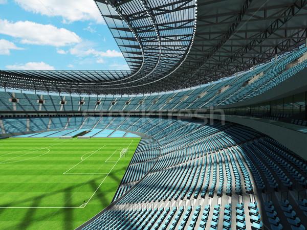 Футбол футбола стадион небе синий vip Сток-фото © danilo_vuletic