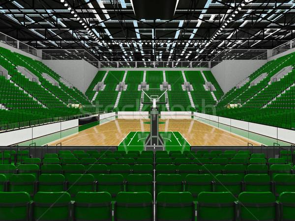 Gyönyörű sportok aréna kosárlabda zöld vip Stock fotó © danilo_vuletic