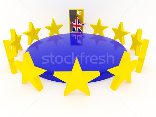 Brexit - United Kingdom departs from European Union - 3D render Stock photo © danilo_vuletic
