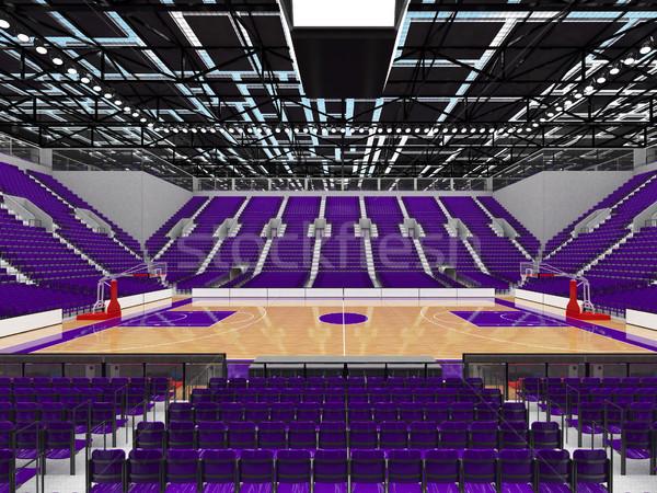 Stock fotó: Sportok · aréna · kosárlabda · lila · vip · gyönyörű