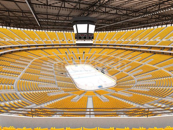 Gyönyörű sportok aréna jégkorong citromsárga vip Stock fotó © danilo_vuletic