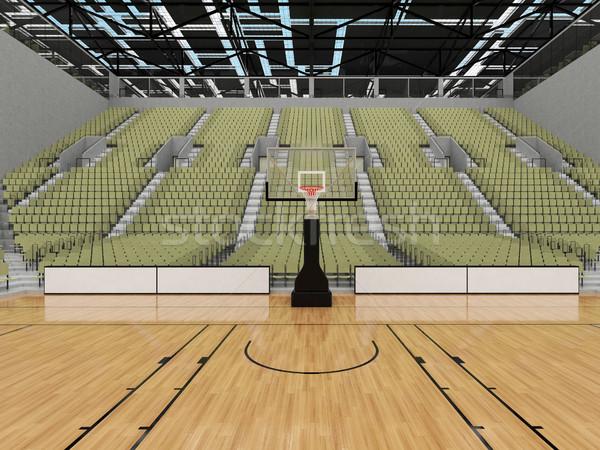 スポーツ アリーナ バスケットボール グレー 緑 美しい ストックフォト © danilo_vuletic