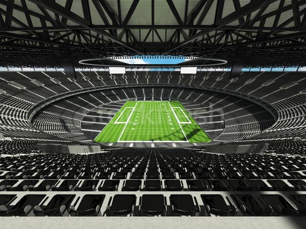 американский футбола стадион черный сто тысяча Сток-фото © danilo_vuletic