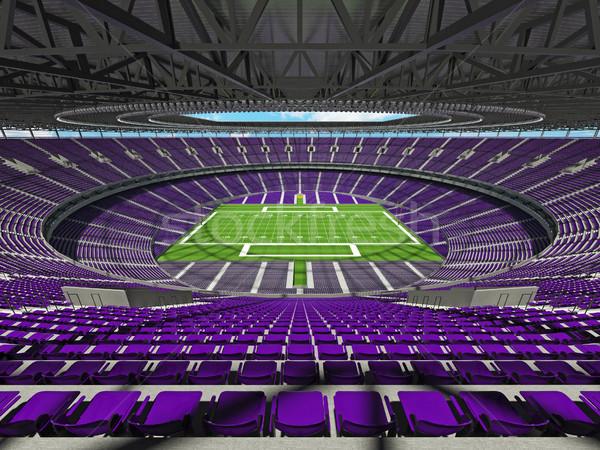 Amerikai futball stadion lila száz ezer Stock fotó © danilo_vuletic