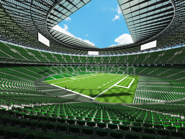 Americano fútbol estadio verde vip cajas Foto stock © danilo_vuletic