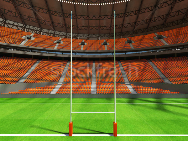 Rendu 3d rugby stade orange vip boîte Photo stock © danilo_vuletic