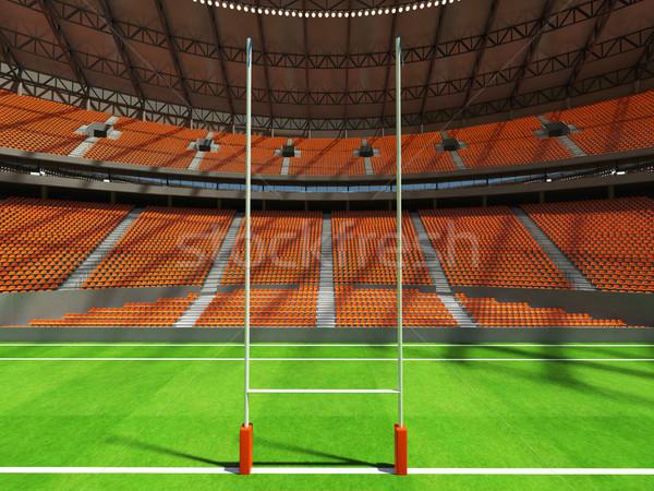 3d render rögbi stadion narancs vip doboz Stock fotó © danilo_vuletic