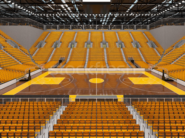 красивой спортивных арена баскетбол желтый vip Сток-фото © danilo_vuletic