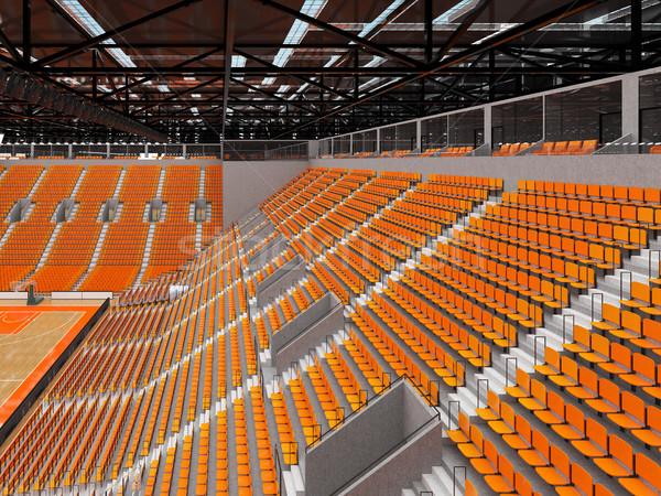 Sport arena basketbal oranje vip mooie Stockfoto © danilo_vuletic