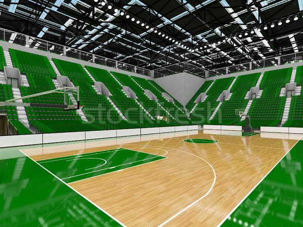 スポーツ アリーナ バスケットボール 緑 vip 美しい ストックフォト © danilo_vuletic