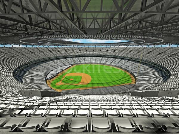 3d render baseball stadion fehér vip dobozok Stock fotó © danilo_vuletic
