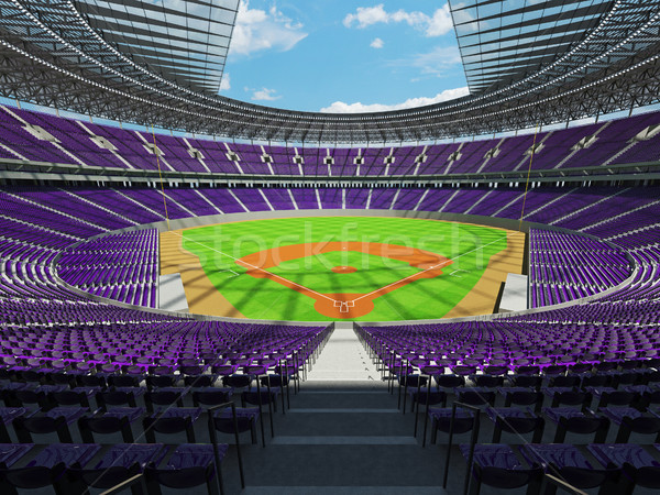 3d render baseball stadion lila vip dobozok Stock fotó © danilo_vuletic