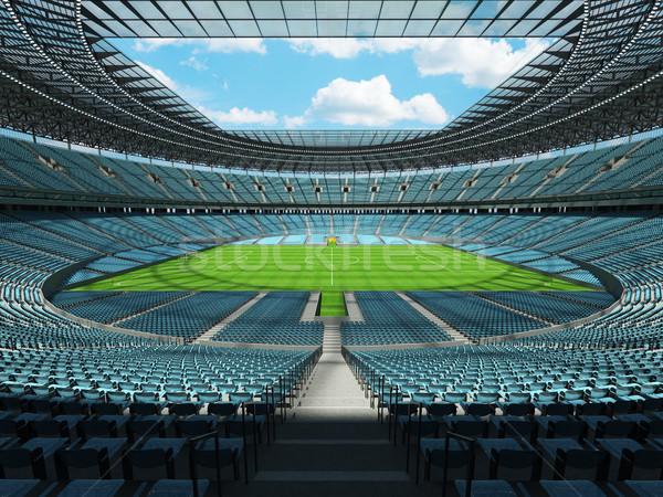 Voetbal voetbal stadion hemel Blauw vip Stockfoto © danilo_vuletic