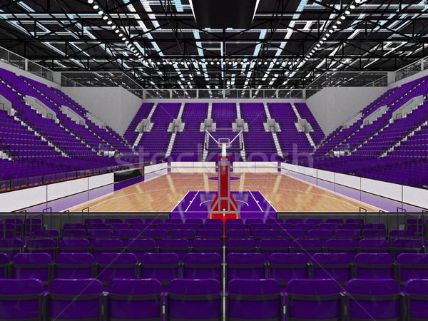 Sportok aréna kosárlabda lila vip gyönyörű Stock fotó © danilo_vuletic