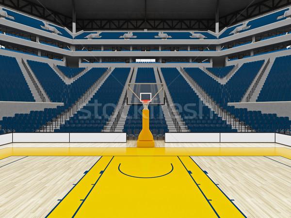 Belle modernes sport arène basket bleu Photo stock © danilo_vuletic