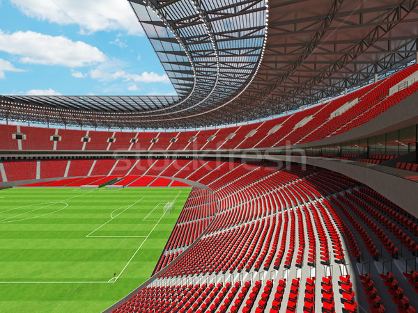 3d render futbol futbol stadyum kırmızı vip Stok fotoğraf © danilo_vuletic
