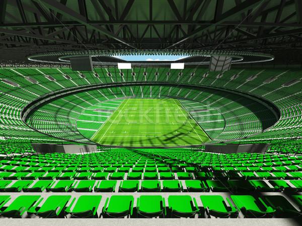 3d render rögbi stadion zöld vip doboz Stock fotó © danilo_vuletic