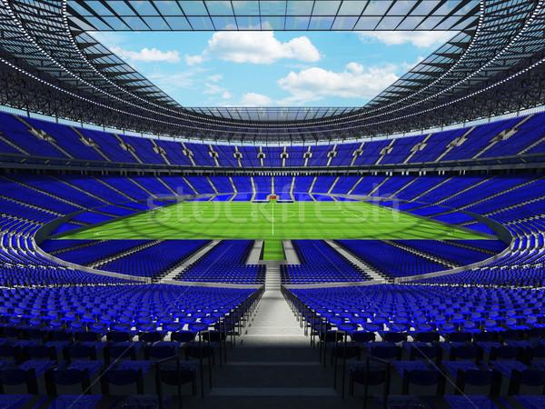 Fútbol fútbol estadio azul cien mil Foto stock © danilo_vuletic