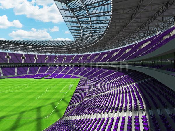 3d render futebol futebol estádio roxo vip Foto stock © danilo_vuletic
