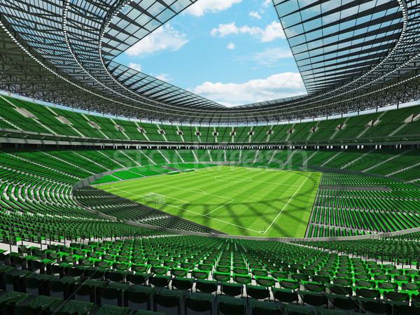 3d render futball futball stadion zöld vip Stock fotó © danilo_vuletic