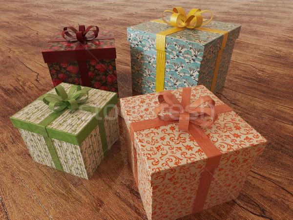 3d render férias presentes presentes Foto stock © danilo_vuletic