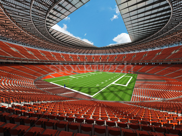 Stockfoto: Amerikaanse · voetbal · stadion · oranje · honderd · duizend