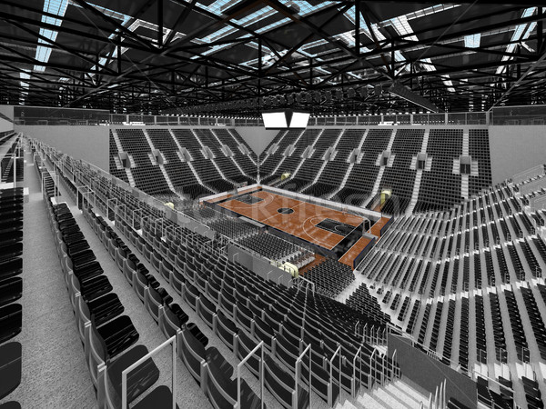 Beautiful modern sports arena for basketball with black seats  Stock photo © danilo_vuletic