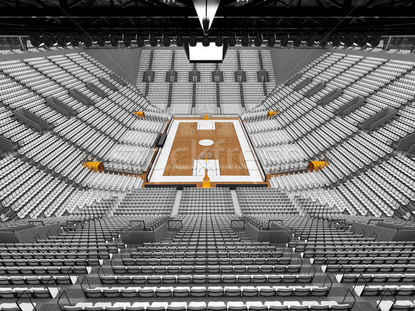 3d визуализации красивой спортивных арена баскетбол белый Сток-фото © danilo_vuletic