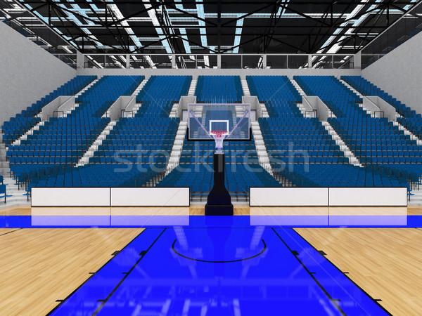 Sportok aréna kosárlabda szürke kék gyönyörű Stock fotó © danilo_vuletic