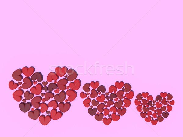 Stock fotó: Gyönyörű · romantikus · valentin · nap · üdvözlet · ajándékkártya · rózsaszín