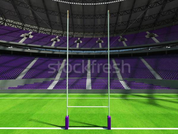 Rendu 3d rugby stade pourpre vip boîte Photo stock © danilo_vuletic