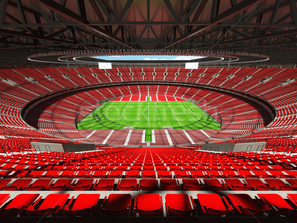 Rendu 3d rugby stade rouge vip cases Photo stock © danilo_vuletic
