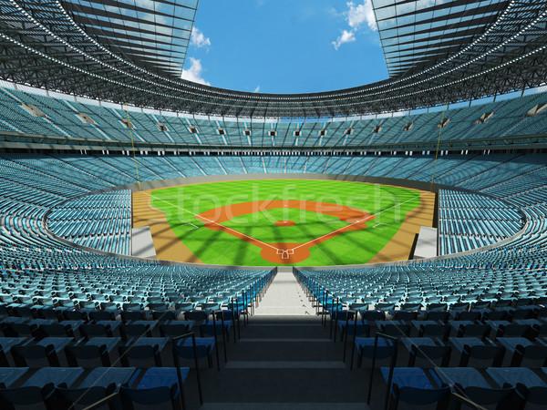 3d render baseball stadion égbolt kék vip Stock fotó © danilo_vuletic