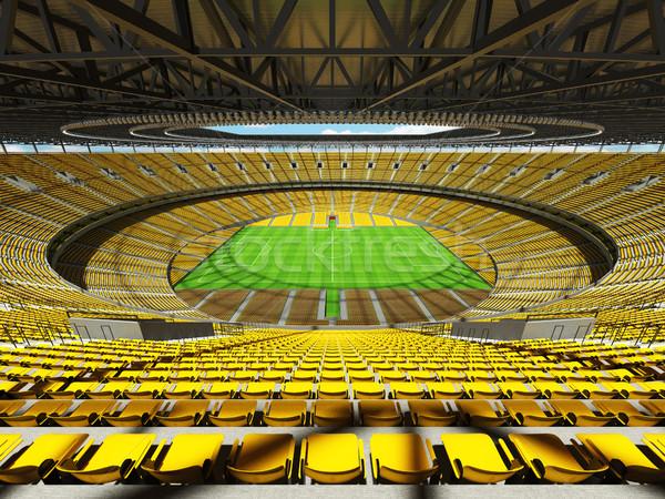 3d render futball futball stadion citromsárga vip Stock fotó © danilo_vuletic