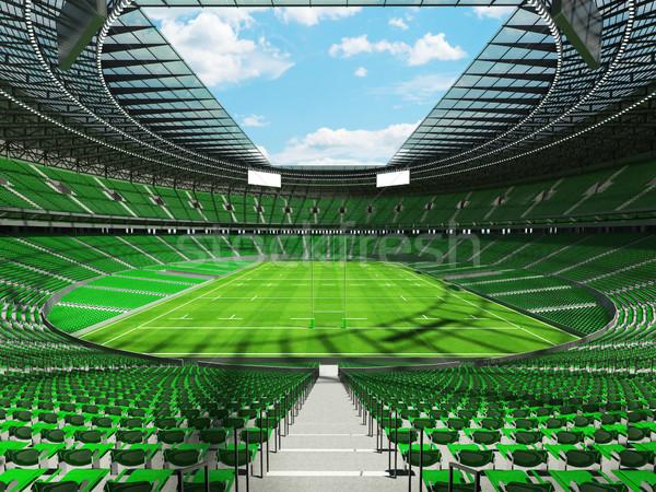 3d render rugby stadion groene vip vak Stockfoto © danilo_vuletic