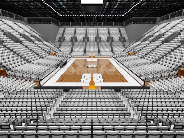 3d render gyönyörű sportok aréna kosárlabda fehér Stock fotó © danilo_vuletic