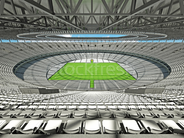 3D render of a round football - soccer stadium with white seats Stock photo © danilo_vuletic