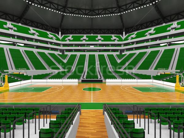 ストックフォト: 美しい · 現代 · スポーツ · アリーナ · バスケットボール · 緑