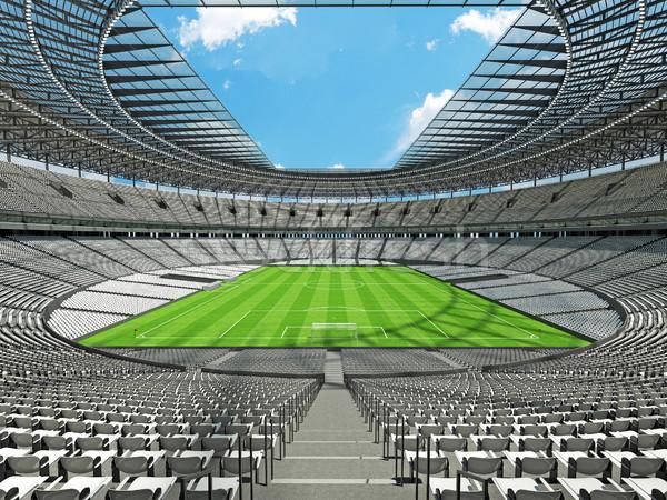 Stock fotó: 3d · render · futball · futball · stadion · fehér · száz
