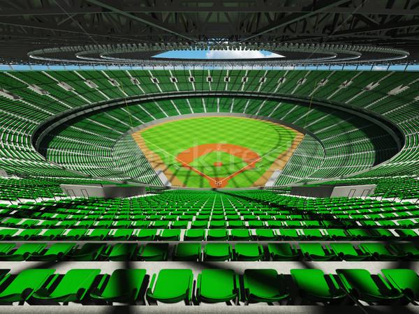 Rendu 3d baseball stade vert vip cases Photo stock © danilo_vuletic