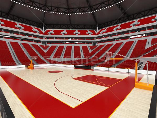 美しい 現代 スポーツ アリーナ バスケットボール 赤 ストックフォト © danilo_vuletic