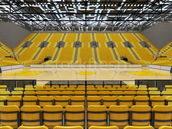 3d render gyönyörű sport aréna kosárlabda fényes Stock fotó © danilo_vuletic