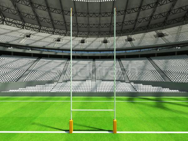 Stock fotó: 3d · render · rögbi · stadion · fehér · vip · doboz