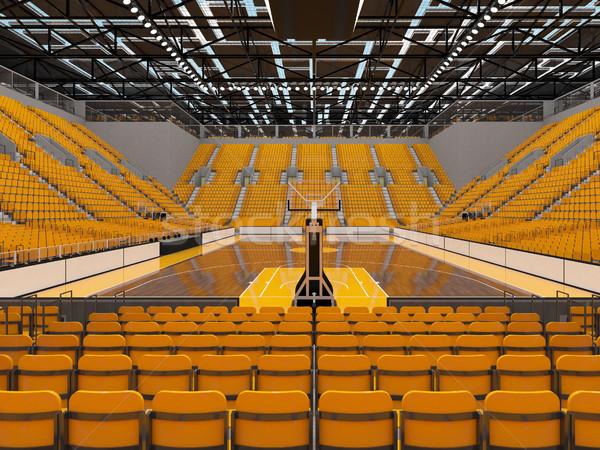 美しい スポーツ アリーナ バスケットボール 黄色 vip ストックフォト © danilo_vuletic