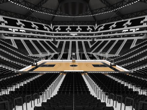 Mooie moderne sport arena basketbal zwarte Stockfoto © danilo_vuletic
