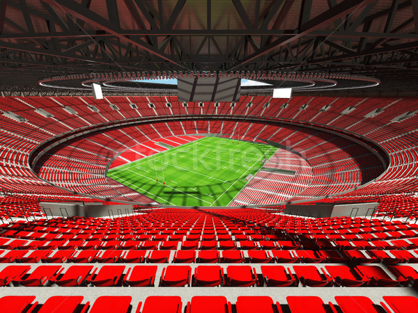 3d render rögbi stadion piros vip dobozok Stock fotó © danilo_vuletic