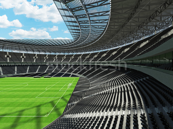 3d render voetbal voetbal stadion zwarte vip Stockfoto © danilo_vuletic