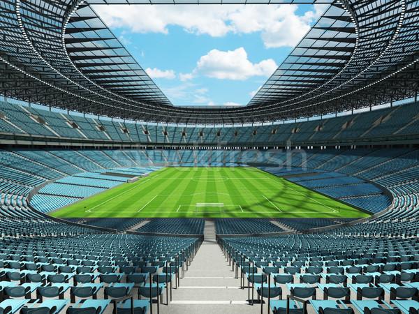 Futball futball stadion égbolt kék vip Stock fotó © danilo_vuletic